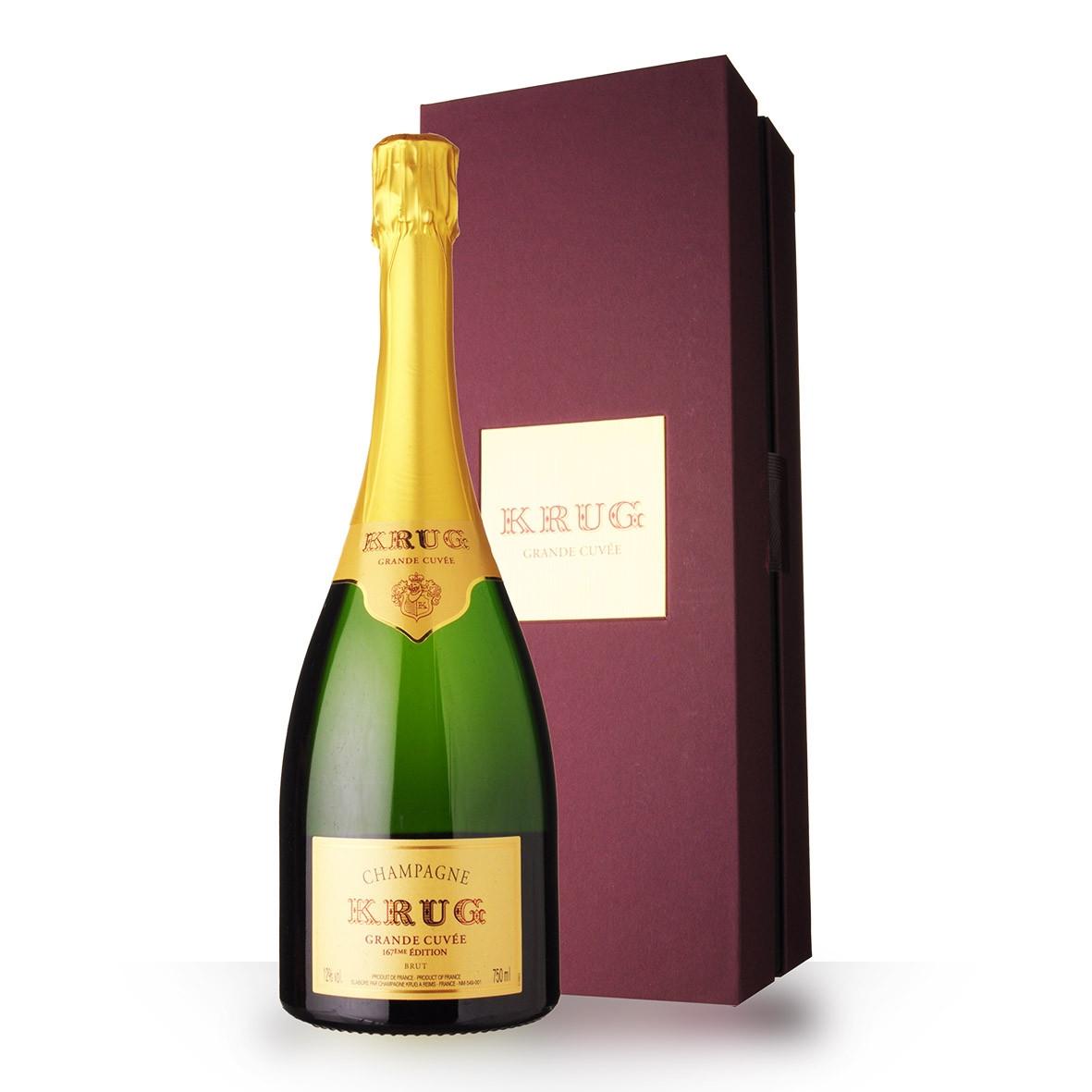 Champagne Krug Grande Cuvée 75cl 167ème édition Coffret www.odyssee-vins.com