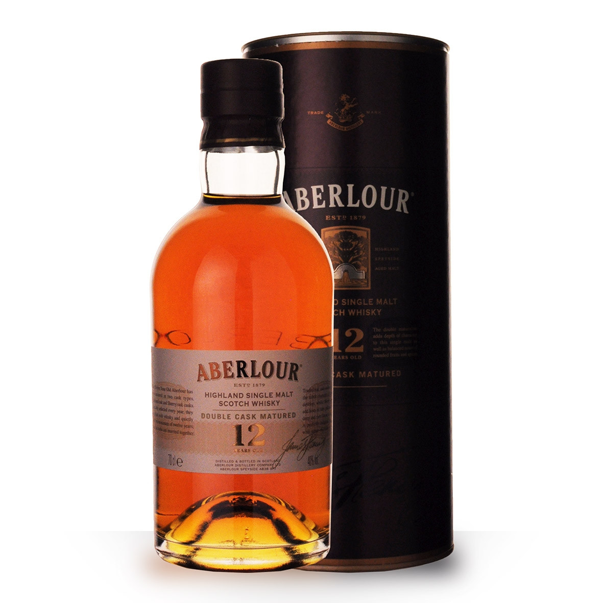 Whisky Aberlour 12 ans Double Cask Matured 70cl Coffret www.odyssee-vins.com