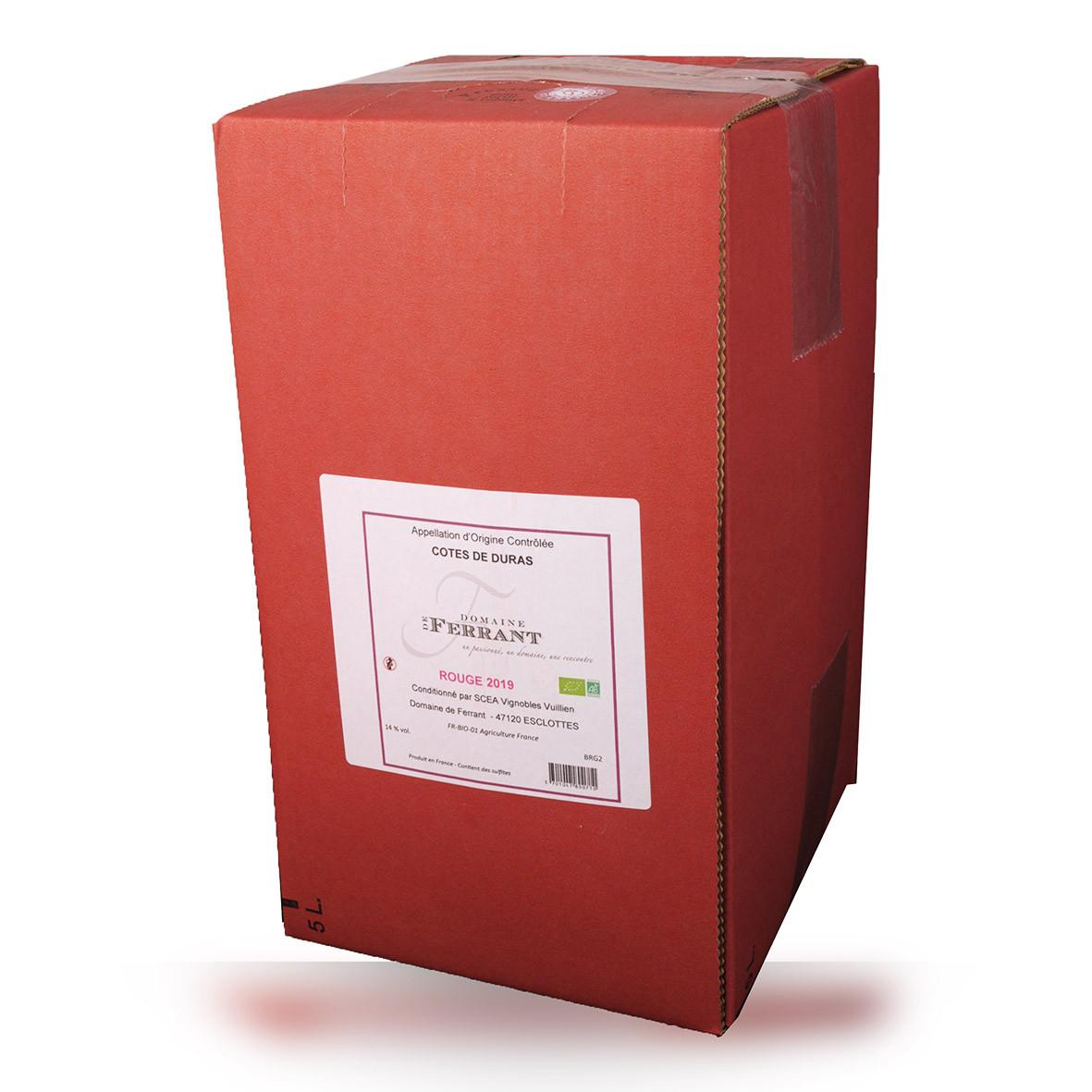 Bag-in-Box 5L Domaine de Ferrant Côtes de Duras Rouge www.odyssee-vins.com