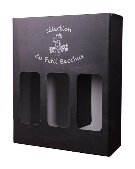 Coffret Carton Petit Bacchus 3x75cl www.odyssee-vins.com