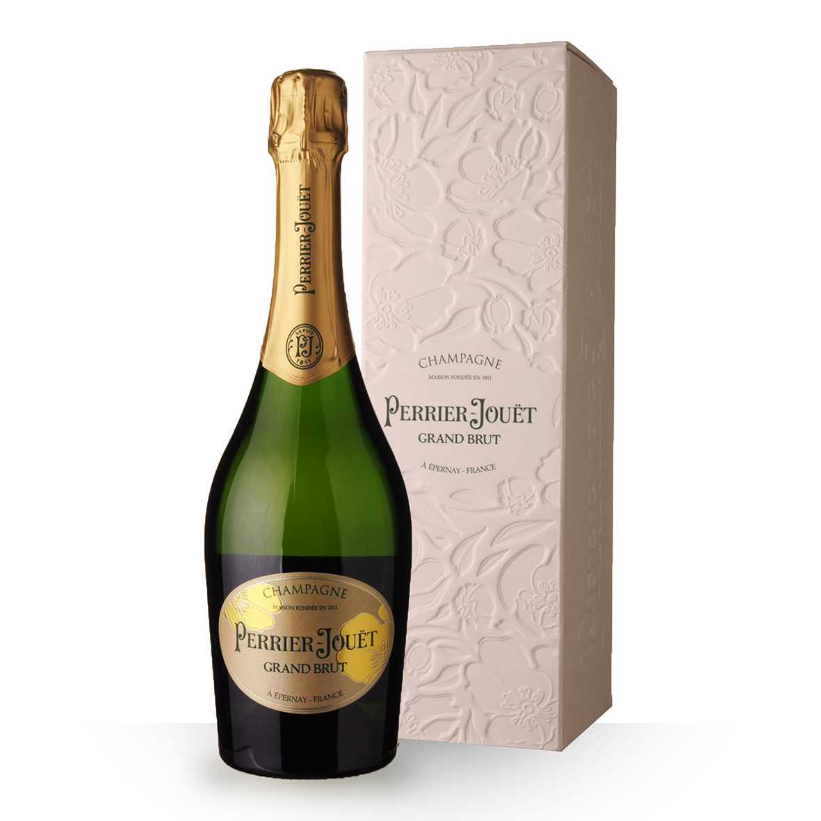 Champagne Perrier-Jouët Grand Brut 75cl Etui www.odyssee-vins.com