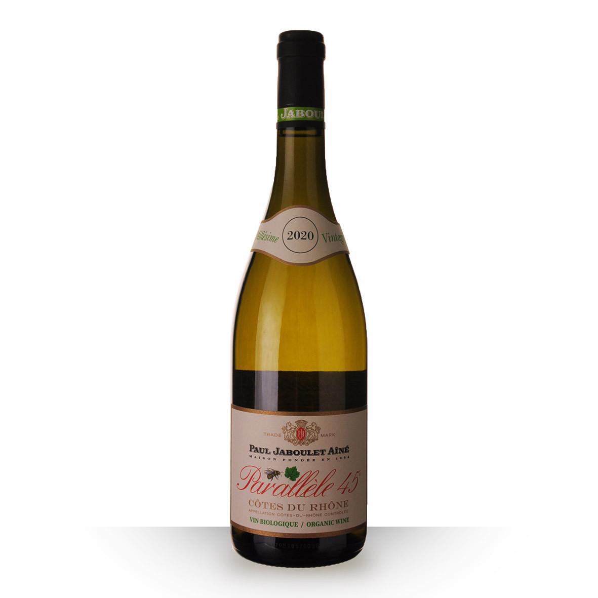 Paul Jaboulet Aîné Parallèle 45 Bio Côtes du Rhône Blanc 2020 75cl www.odyssee-vins.com