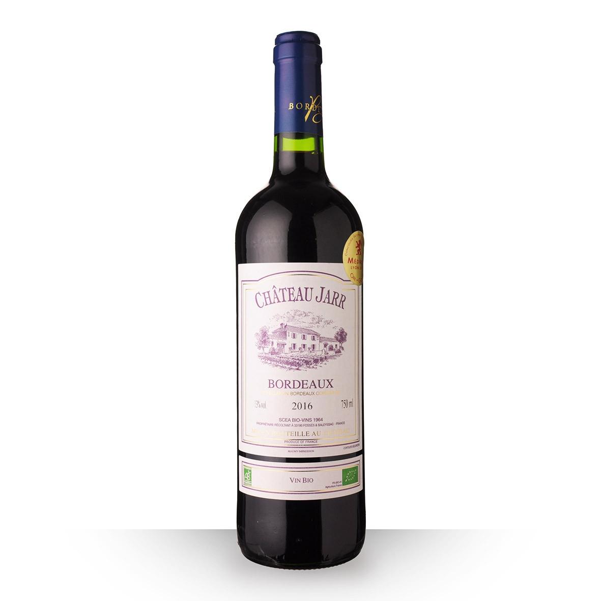 Château Jarr Bordeaux Rouge 2016 75cl www.odyssee-vins.com