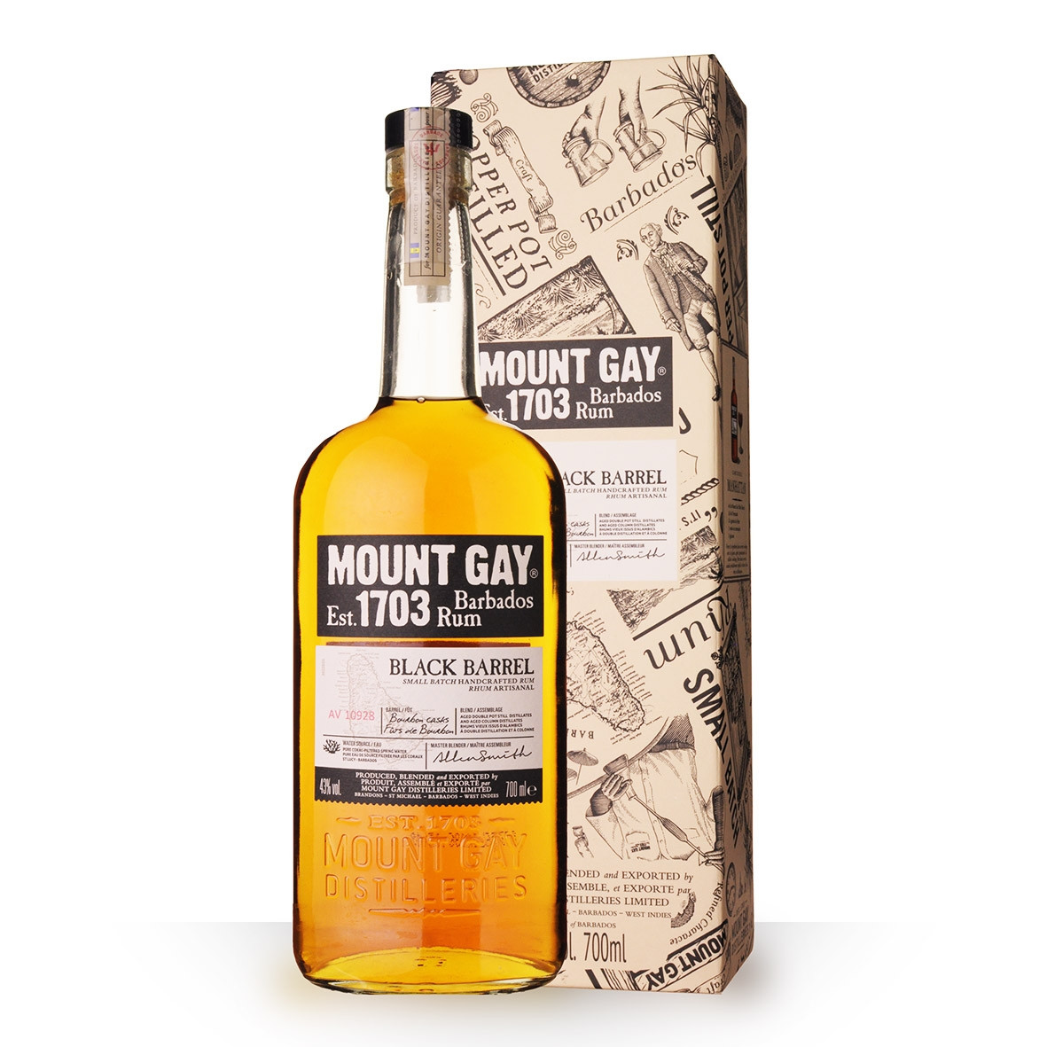 Rhum Rum Barbados Mount Gay Black Barrel 70cl Coffret www.odyssee-vins.com