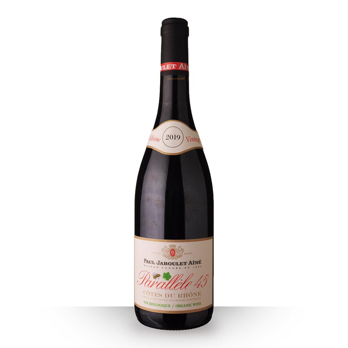 Paul Jaboulet Aîné Parallèle 45 Bio Côtes du Rhône Rouge 2019 75cl www.odyssee-vins.com