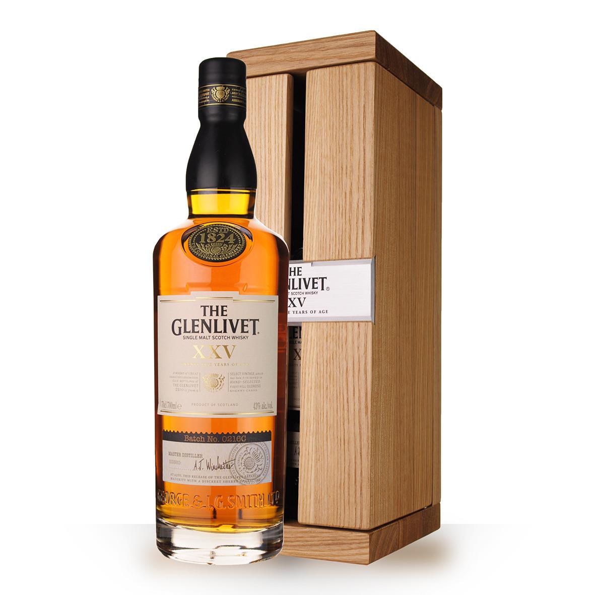 Whisky The Glenlivet 25 ans 70cl Coffret www.odyssee-vins.com