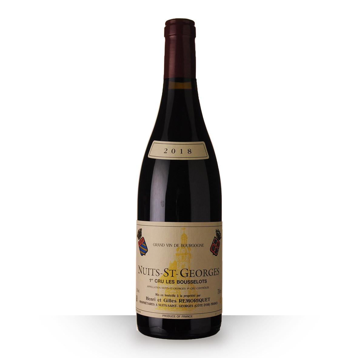 Domaine Remoriquet Nuits-Saint-Georges 1er Cru les Bousselots Rouge 2018 75cl www.odyssee-vins.com