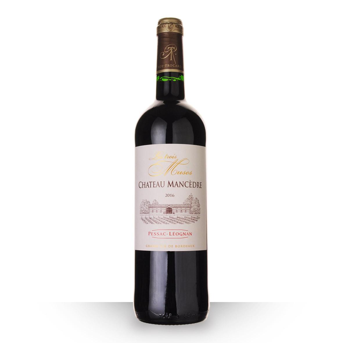 Château Mancèdre les Trois Muses Pessac-Léognan Rouge 2016 75cl www.odyssee-vins.com