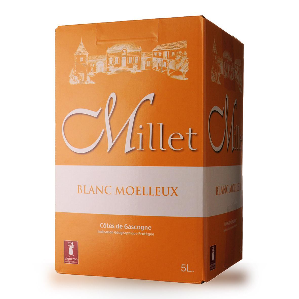 Bag-In-Box 5L Domaine de Millet Blanc Moelleux www.odyssee-vins.com