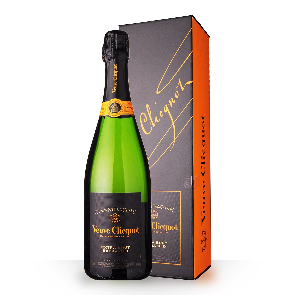 Champagne Veuve Clicquot Extra Brut 75cl Etui www.odyssee-vins.com