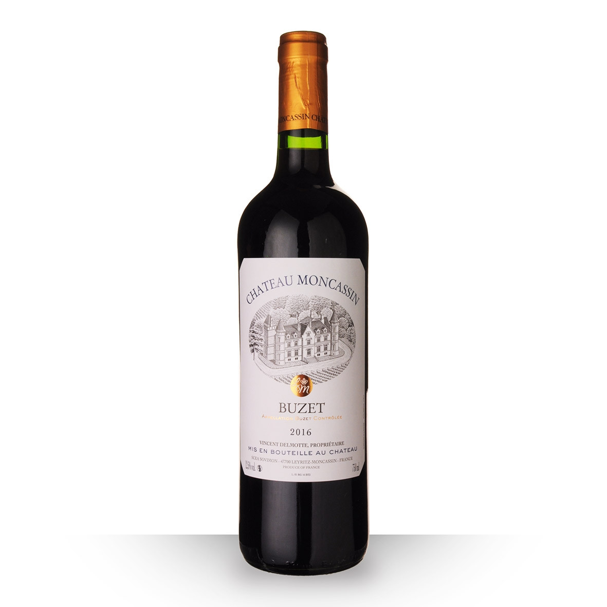 Château Moncassin Tradition Buzet Rouge 2016 75cl www.odyssee-vins.com
