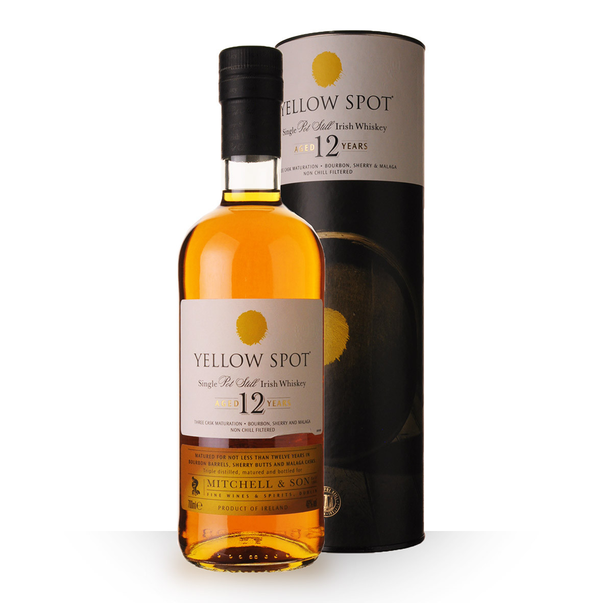 Whisky Yellow Spot 12 ans 70cl Coffret www.odyssee-vins.com