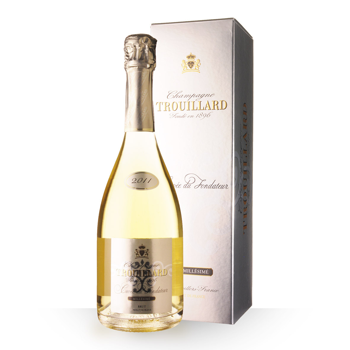 Champagne Trouillard Cuvée du Fondateur 2011 Brut 75cl Etui www.odyssee-vins.com
