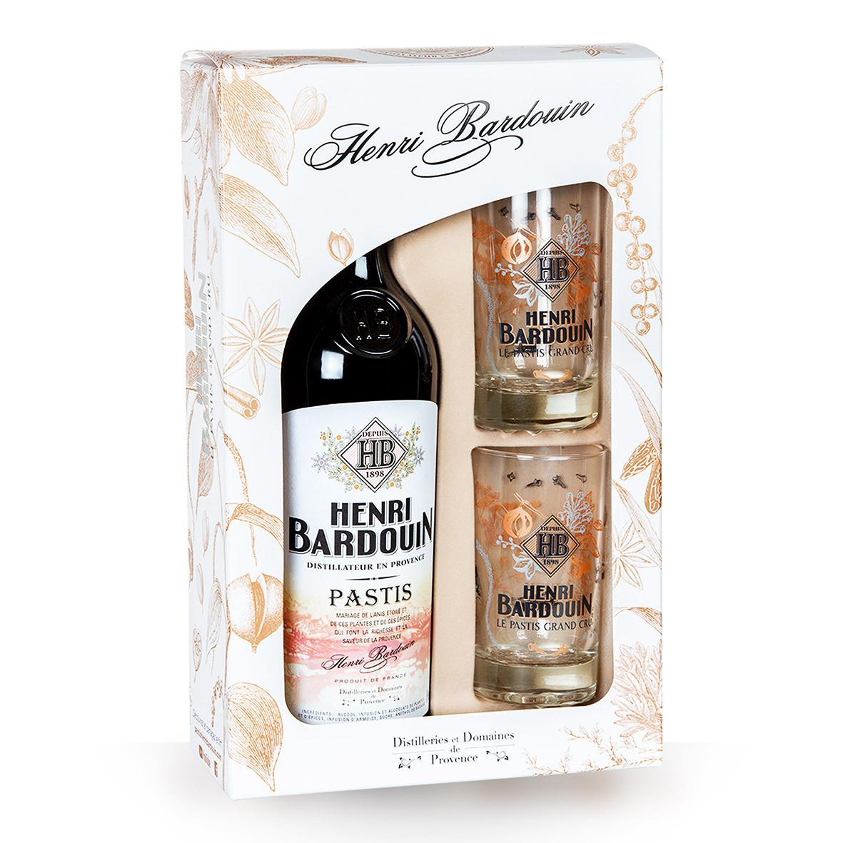 Henri Bardouin 70cl Coffret 2 verres www.odyssee-vins.com