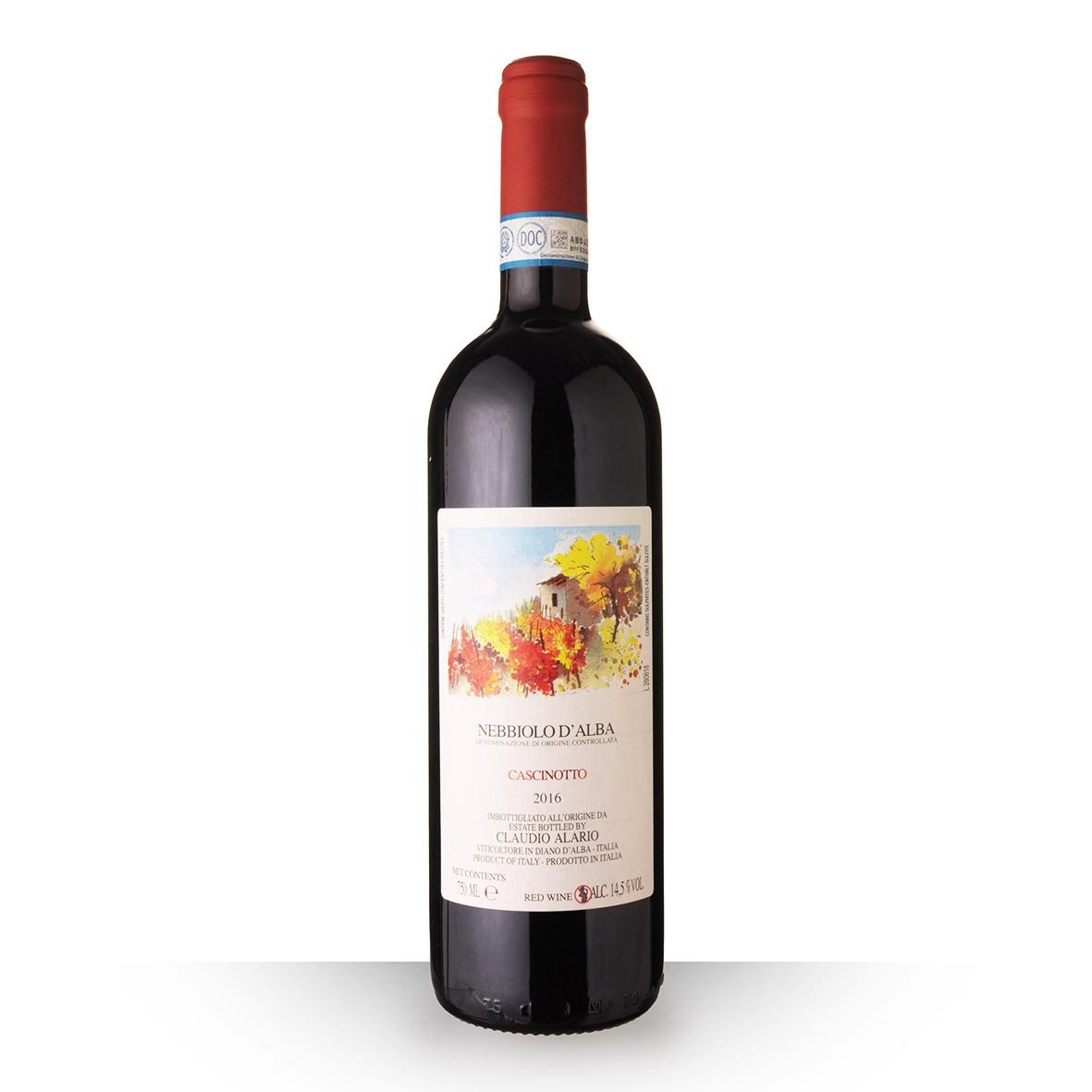 Alario Claudio Cascinotto Nebbiolo dAlba Rouge 2016 75cl www.odyssee-vins.com
