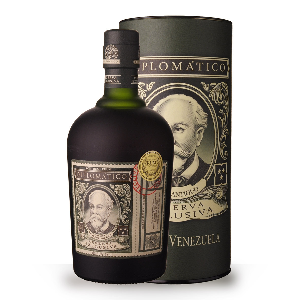 Rhum Diplomatico Reserve Exclusiva 12 ans 70cl Coffret www.odyssee-vins.com
