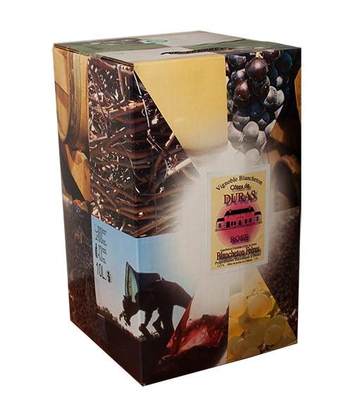 Bag-in-Box 10L Vignobles Blancheton Côtes de Duras Rosé www.odyssee-vins.com