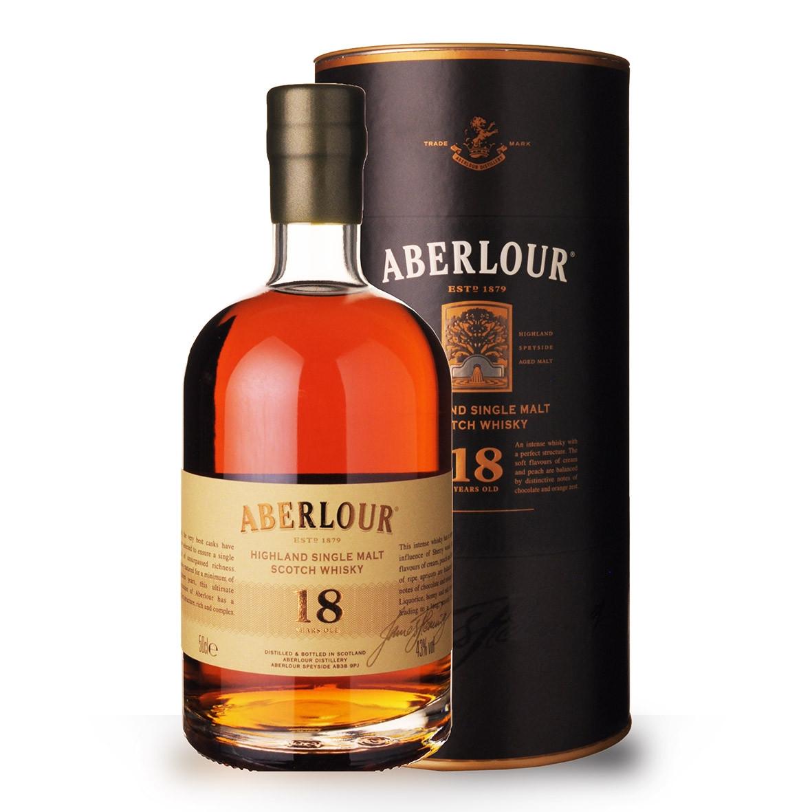 Whisky Aberlour 18 ans 50cl Coffret www.odyssee-vins.com