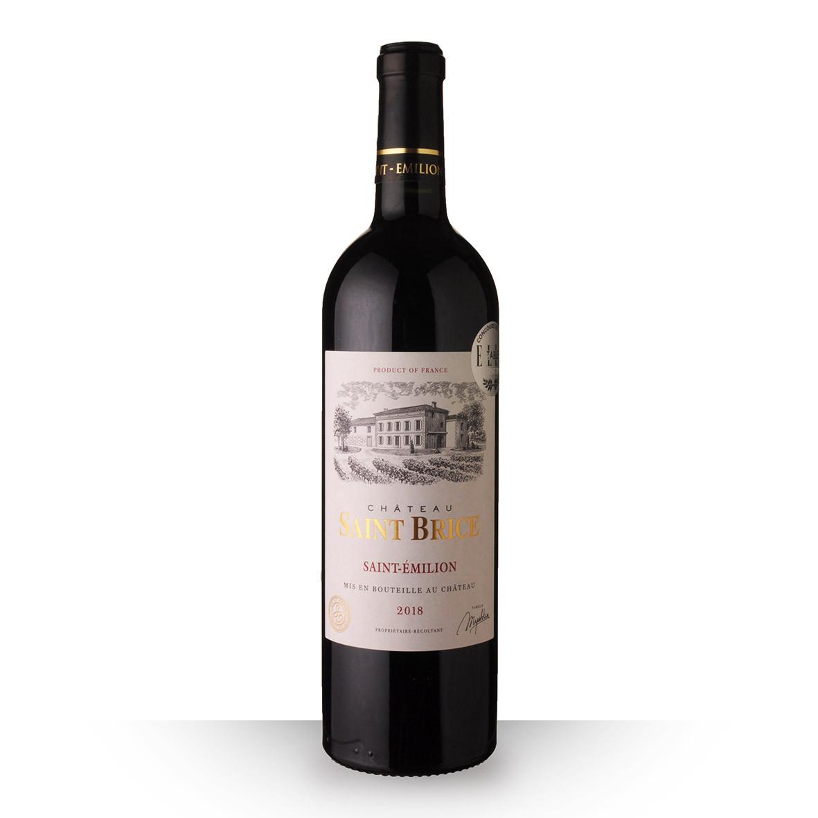 Château Saint-Brice Saint-Emilion Rouge 2018 75cl www.odyssee-vins.com