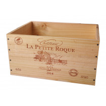 Caisse Bois 6x75cl estampillé Château La Petite Roque www.odyssee-vins.com