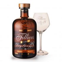 Gin Filliers 28 50cl Coffret 1 Verre www.odyssee-vins.com
