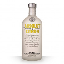 Vodka Absolut Citron 70cl www.odyssee-vins.com