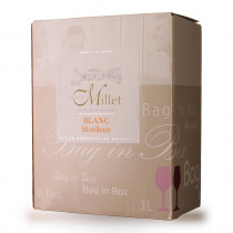 Bag-In-Box 3L Domaine de Millet Blanc Moelleux www.odyssee-vins.com