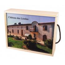 Caisse Plumier impression Leotins 3x75cl www.odyssee-vins.com