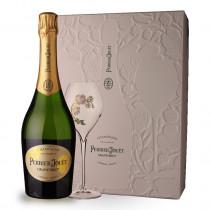 Champagne Perrier-Jouët Grand Brut 75cl Coffret 2 flutes www.odyssee-vins.com